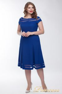 Коктейльное платье 1217 blue. Цвет электрик . Вид 2