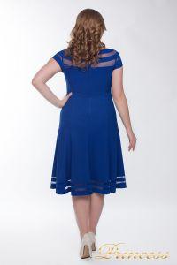 Коктейльное платье 1217 blue. Цвет электрик . Вид 3