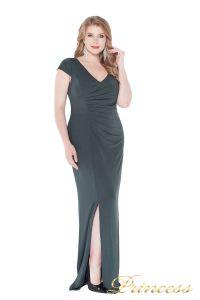 Вечернее платье 1235 dark green. Цвет серый. Вид 1