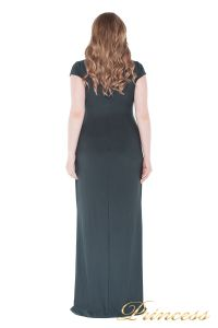 Вечернее платье 1235 dark green. Цвет серый. Вид 4