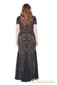 Вечернее платье 1236 black nude. Цвет чёрный. Вид 2