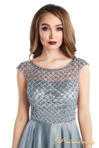 вечернее платье 24166-171 gray. Цвет стальной. Вид 5