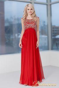 Вечернее платье 2630 R. Цвет красный. Вид 3