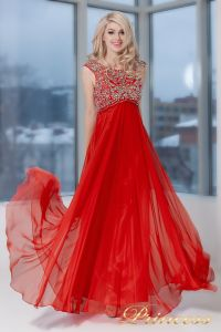 Вечернее платье 2630 R. Цвет красный. Вид 1