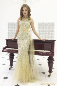 Вечернее платье 264. Цвет золото. Вид 4