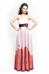 Вечернее платье 1285. Цвет красный. Вид 2