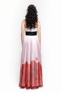 Вечернее платье 1285. Цвет красный. Вид 3
