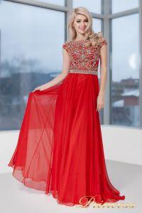 Вечернее платье 130016- ROYAL. Цвет красный. Вид 2
