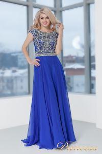 Вечернее платье 130016 ROYAL. Цвет электрик . Вид 2