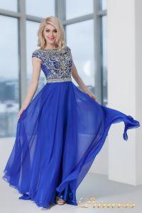 Вечернее платье 130016 ROYAL. Цвет электрик . Вид 3
