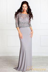 Вечернее платье 13044. Цвет стальной. Вид 1