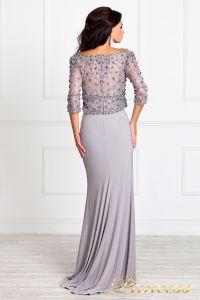 Вечернее платье 13044. Цвет стальной. Вид 3