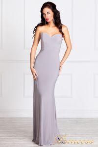 Вечернее платье 13044. Цвет стальной. Вид 2