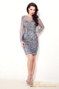 Коктейльное платье1306. Цвет стальной. Вид 1
