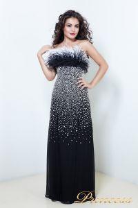 Вечернее платье 1308. Цвет чёрный. Вид 1