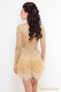 Коктейльное платье 1309 N. Цвет шампань. Вид 2