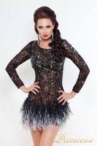 Коктейльное платье 1309 B. Цвет чёрный. Вид 1