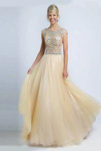 вечернее платье 131232. Цвет персиковый. Вид 2