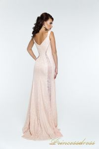 Вечернее платье 131388. Цвет розовый. Вид 3