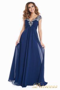 Вечернее платье № 131587N. Цвет синий. Вид 3