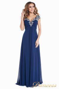 Вечернее платье № 131587N. Цвет синий. Вид 2