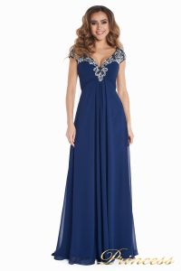 Вечернее платье № 131587N. Цвет синий. Вид 5