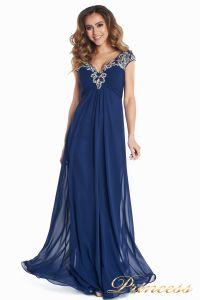 Вечернее платье № 131587N. Цвет синий. Вид 4