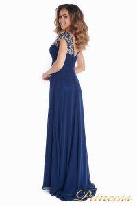 Вечернее платье № 131587N. Цвет синий. Вид 6