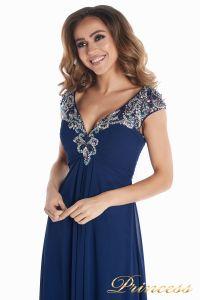 Вечернее платье № 131587N. Цвет синий. Вид 8