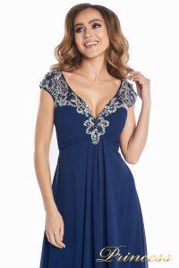 Вечернее платье № 131587N. Цвет синий. Вид 7