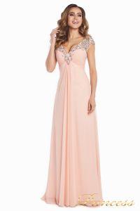 Вечернее платье №131587P. Цвет розовый. Вид 1