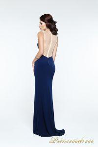Вечернее платье 131603. Цвет синий. Вид 3