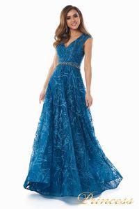 Вечернее платье 13176 teal. Цвет синий. Вид 3