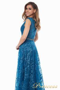 Вечернее платье 13176 teal. Цвет синий. Вид 4
