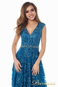 Вечернее платье 13176 teal. Цвет синий. Вид 5