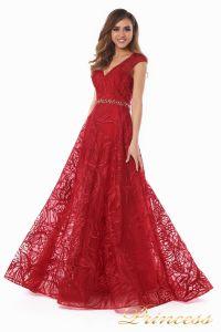 Вечернее платье 13176 wine . Цвет красный. Вид 1