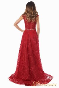 Вечернее платье 13176 wine . Цвет красный. Вид 5