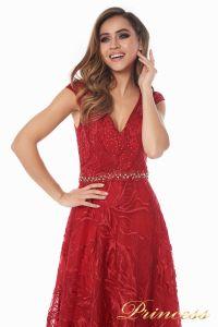 Вечернее платье 13176 wine . Цвет красный. Вид 3