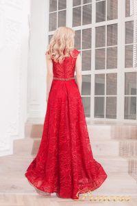 Вечернее платье 13176 wine . Цвет красный. Вид 2