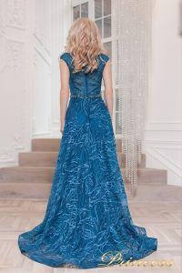 Вечернее платье 13176 teal. Цвет синий. Вид 2