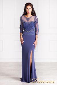 Вечернее платье 3199. Цвет фиолетовый. Вид 2