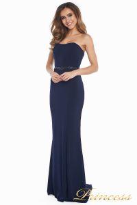 Вечернее платье 3200 navy big size. Цвет синий. Вид 2