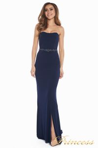 Вечернее платье 3200 navy big size. Цвет синий. Вид 3