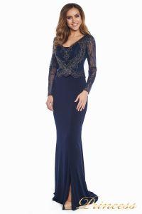 Вечернее платье 3200 navy big size. Цвет синий. Вид 4