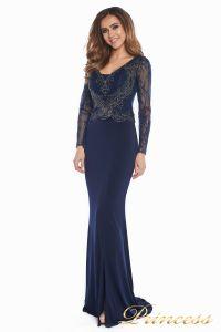 Вечернее платье 3200 navy big size. Цвет синий. Вид 5