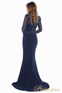 Вечернее платье 3200 navy big size. Цвет синий. Вид 6
