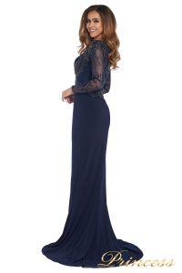 Вечернее платье 3200 navy big size. Цвет синий. Вид 7