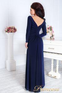 Вечернее платье 13218. Цвет синий. Вид 2