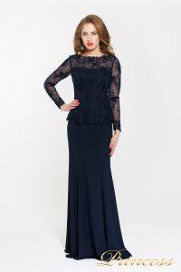 Вечернее платье 13526 NAVY. Цвет синий. Вид 1