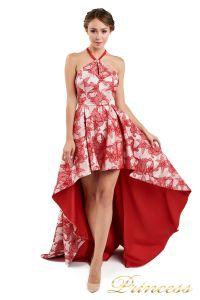 Вечернее платье 13611 red. Цвет цветочное. Вид 1